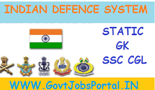 INDIAN DEFENCE SYSTEM (INDIAN ARMY, NAVY AND AIR FORCE) STUDY NOTES FOR SSC CGL EXAM
