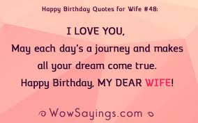 Happy Birthday wishes quotes for wife: happy birthday quotes far wife i love you