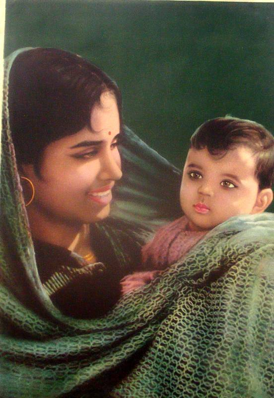 Indian Mother and Child - Vintage Print - Old Indian Arts
