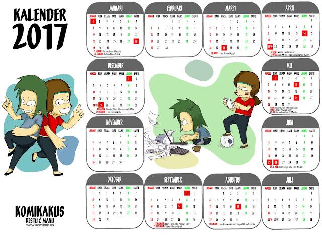 KOMIKAKUS: Kalender 2017