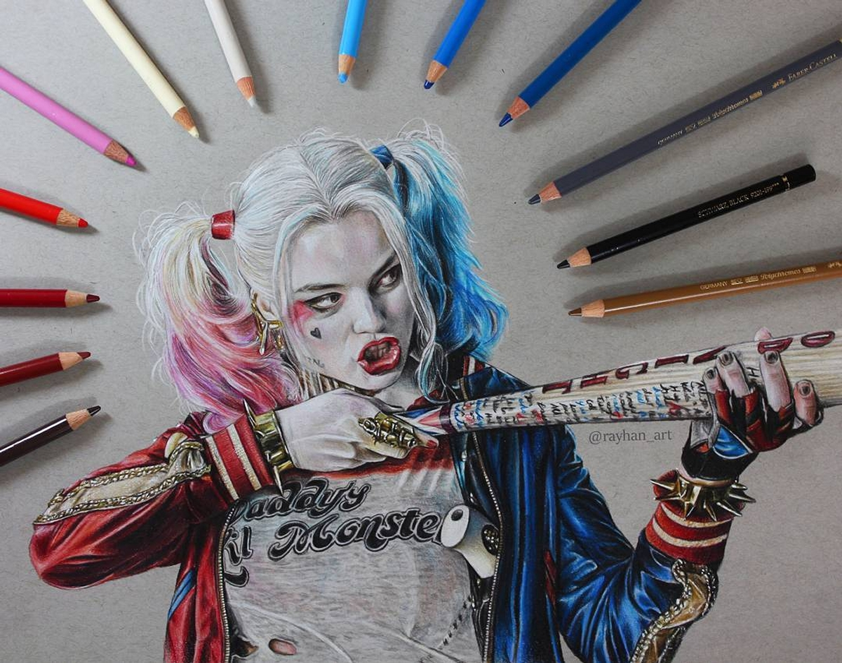 06-Harley-Quinn-Rayhan-Miah-Movie-Characters-Drawings-and-More-www-designstack-co