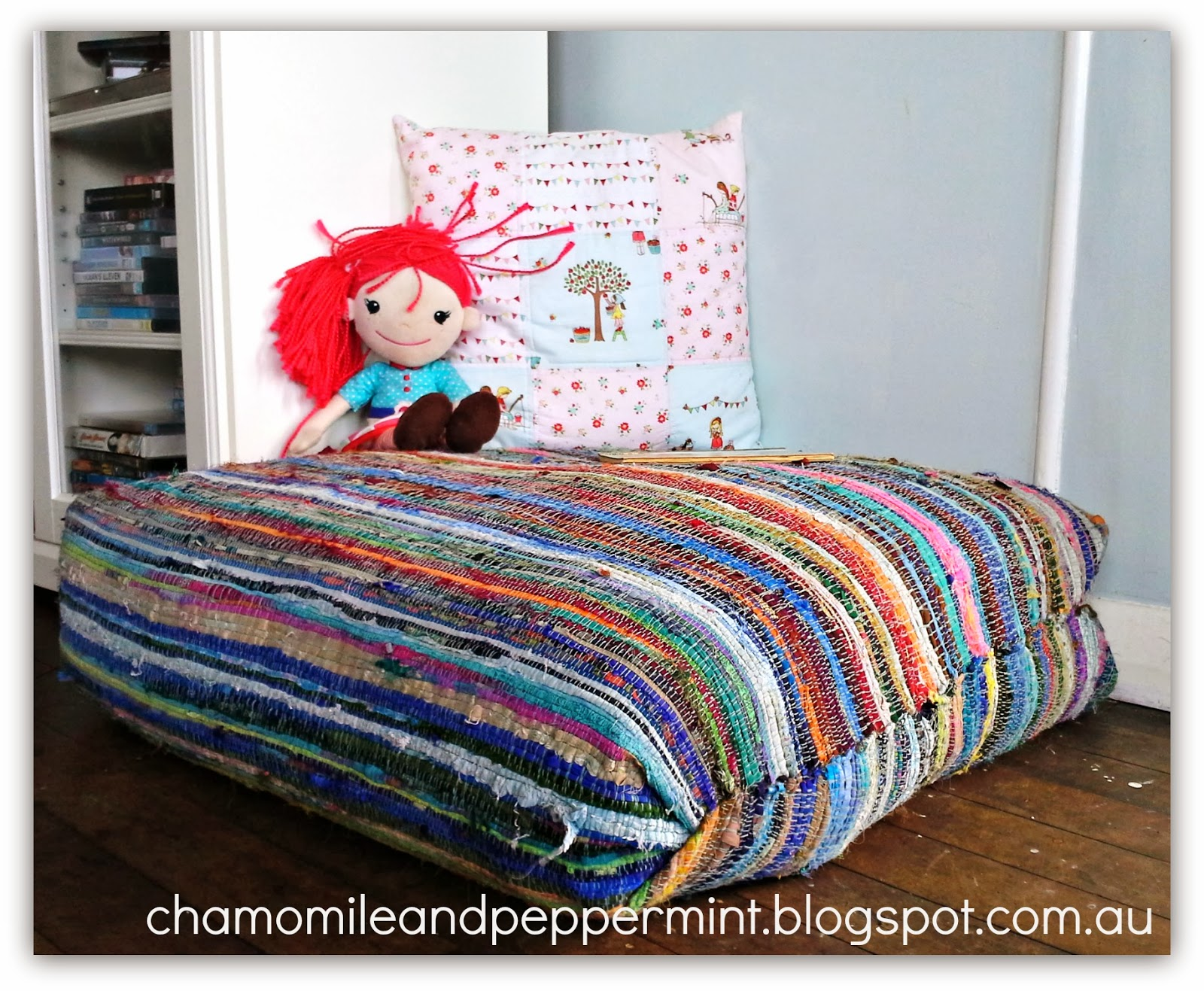 Chamomile And Peppermint Blog Something New From Old Diy Giant Rag Rug Floor