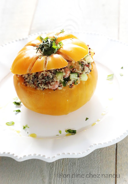 tomate ananas, plat d'été , salade composée , quinoa