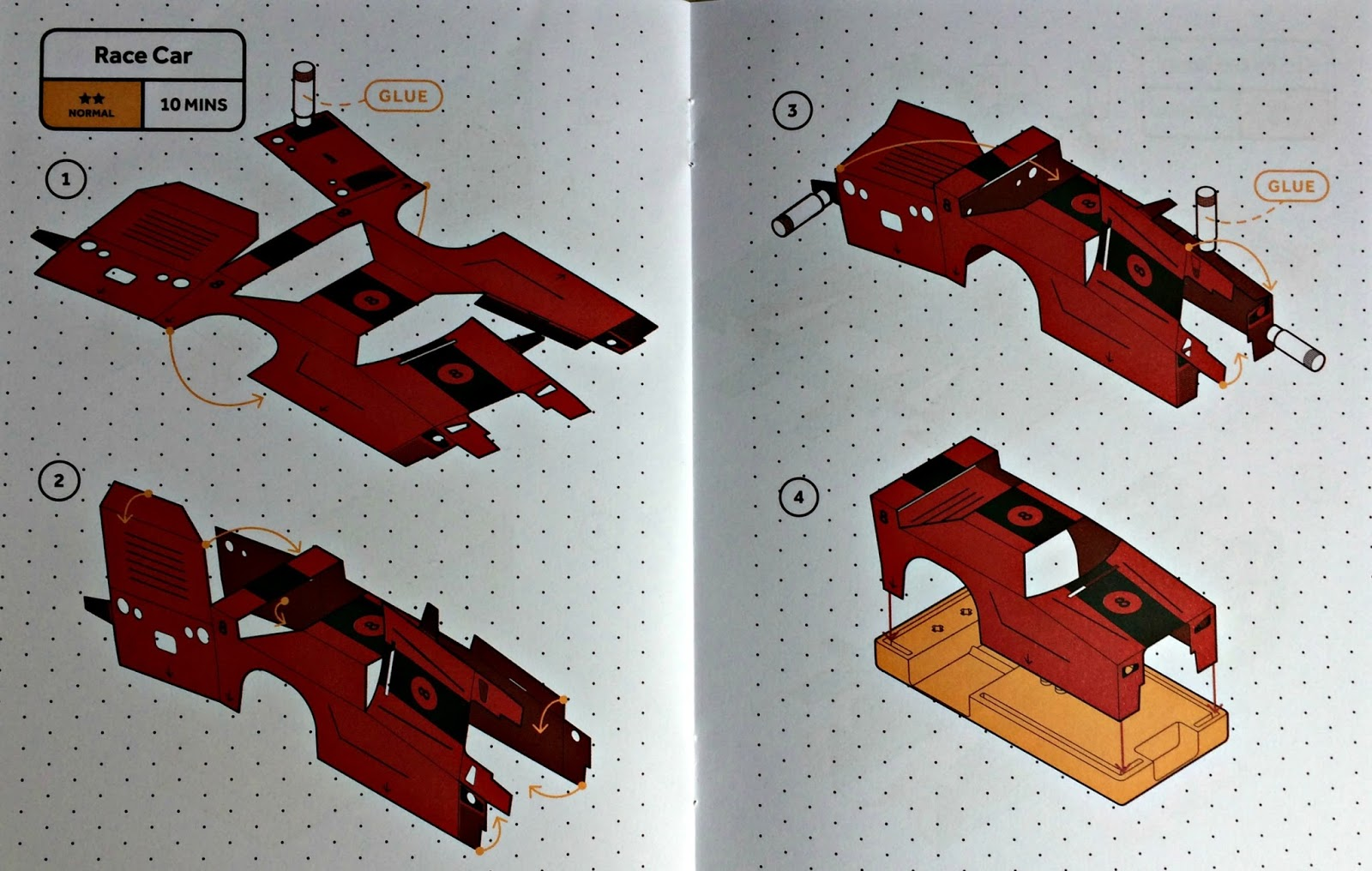 Racing car instructions in the SAM Labs Curious Cars Kit