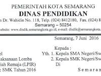 Lomba Penelitian Ilmiah Remaja Siswa SMA/ SMK Tingkat Kota Semarang Tahun 2016