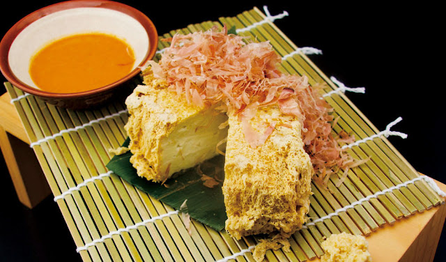 ENBU Suntec City - Deep Fried Tofu with Uni Sauce