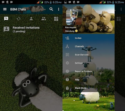 BBM Mod Shaun The Sheep V3.2.5.12 Apk