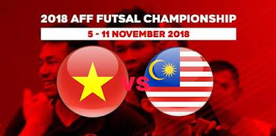 Live Streaming Vietnam vs Malaysia Kejohanan AFF Futsal 9.11.2018