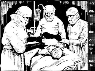Patient on operating table and three doctors