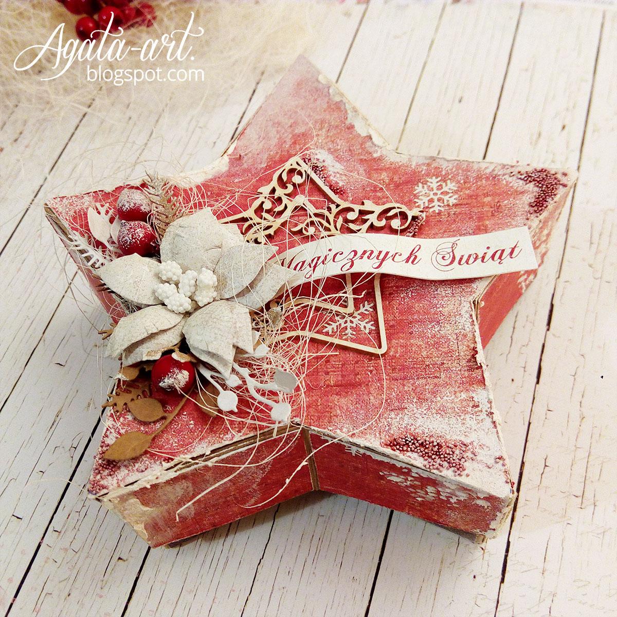 Świąteczny box w kształcie gwiazdki