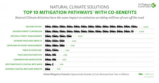 Top 10 Mitigation Pathways with Co-Benefits (Credit: The Nature Conservancy) Click to Enlarge.