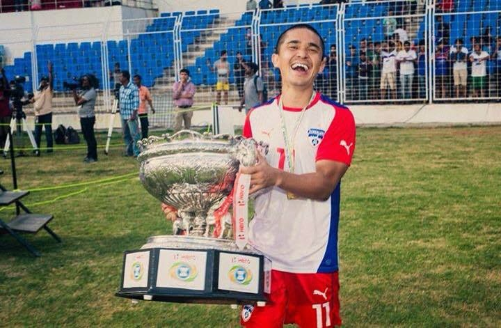 Sunil Chhetri lifted the Federation Cup for Bengaluru FC