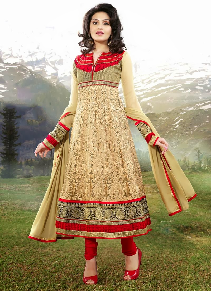 latest indian anarkali beautiful indian dresses 201314