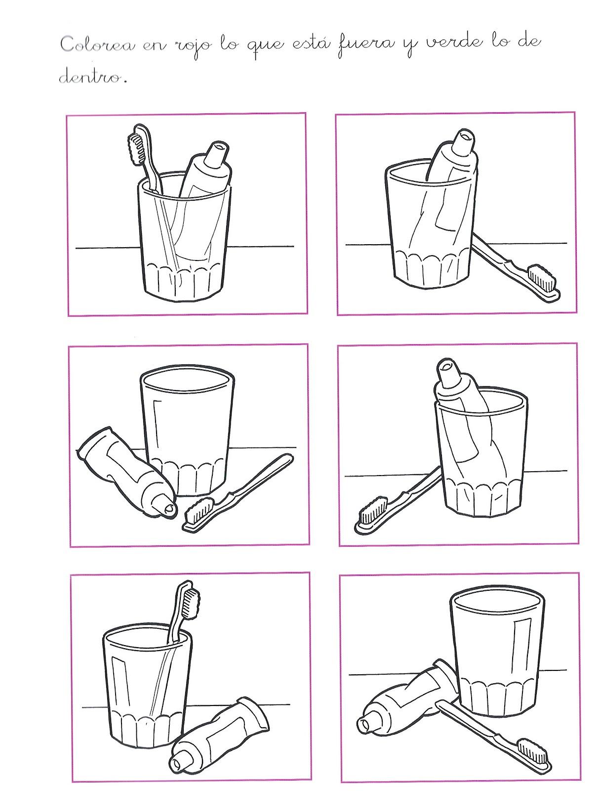 Dibujos para colorear de nociones arriba abajo - Imagui