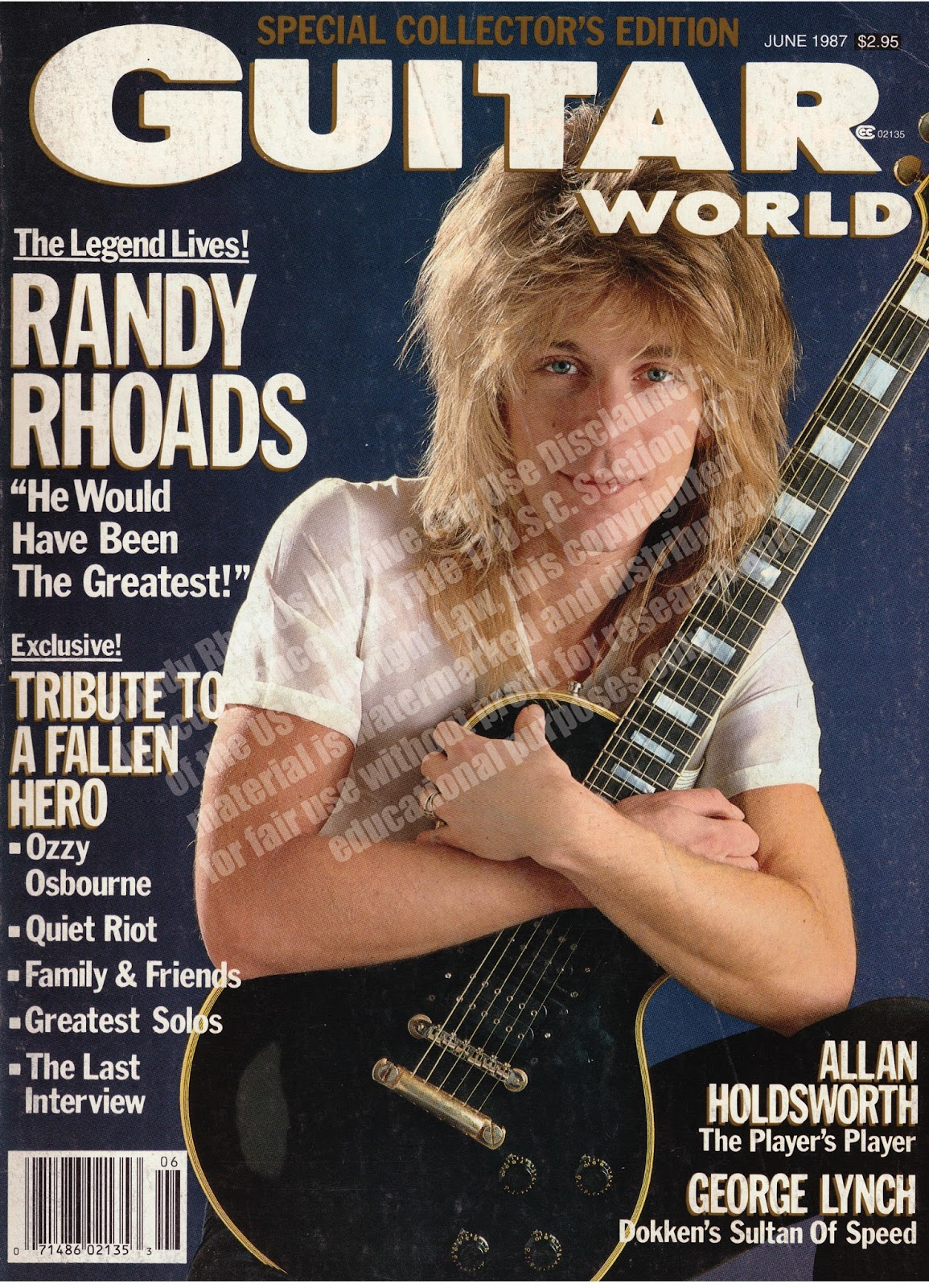 Randy Rhoads Archive Guitar World June 1987 | Randy Rhoads Archive