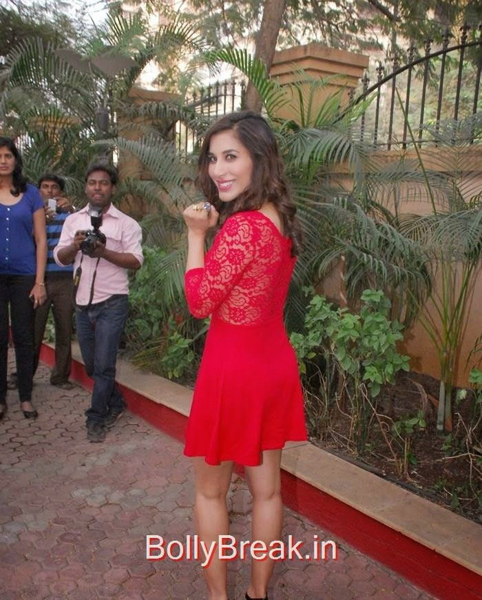 , Sophie Choudry Red Short Dress hot Pics