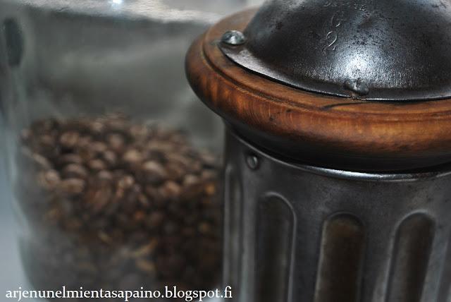 kahvipavut, kahvipapu, kahvimylly, vanha