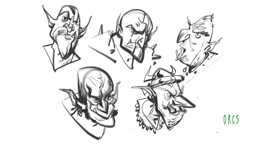 Rick Lacy: Character Design Class: Homework: The Shape of Orcs