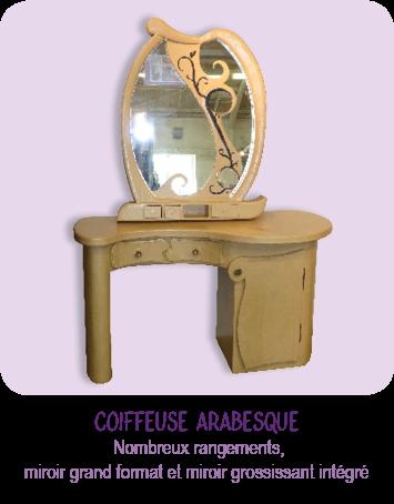 Coiffeuse en carton, meuble en carton et cadre miroir en carton _ par Cartons Dudulle _ Albi