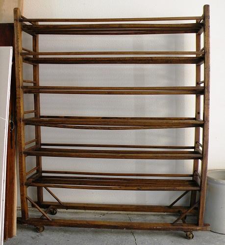 Jims Vintage Sold Old Wooden Bread Rack Or Bakers Rack
