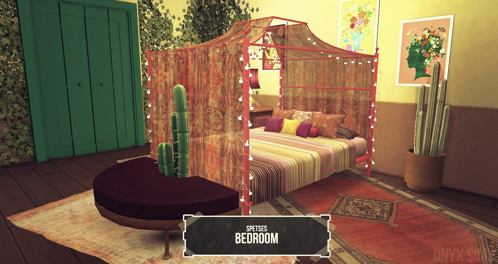 Spetses Bedroom Set Onyx Sims
