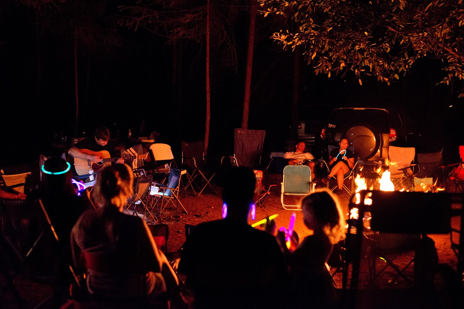 Each Night We Ended Our Day At The Campfire With A Little Devotional And Then Brent Lead Us In Some Songs