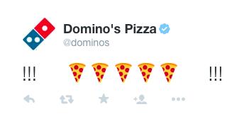 搭上社群媒體話題熱,Twitter發文表情符號就能點外送Pizza
