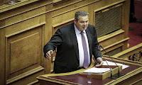 Καμμένος: Να απολογηθεί τώρα η ΝΔ για τον Αυγενάκη