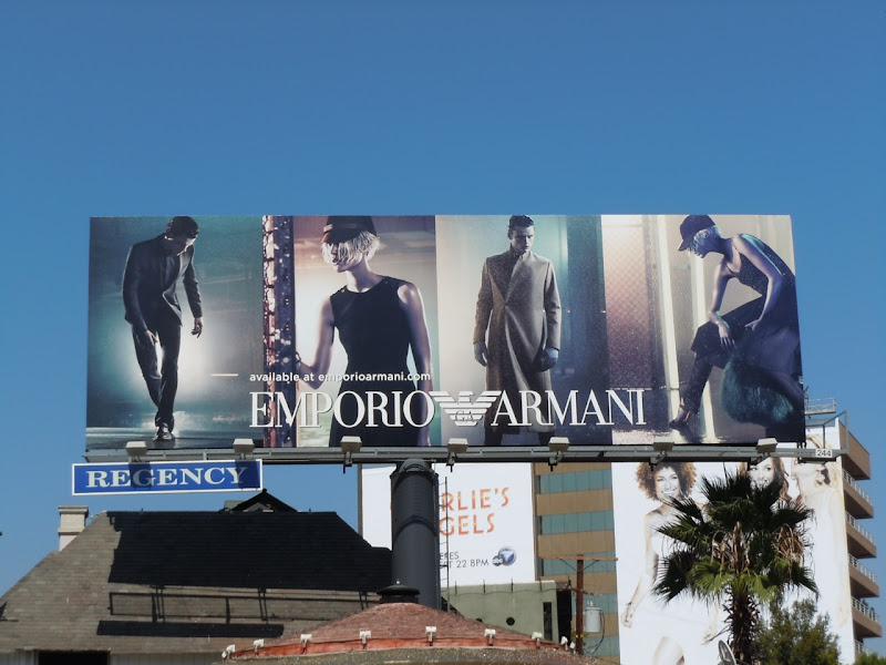 Emporio Armani Fall11 fashion billboard