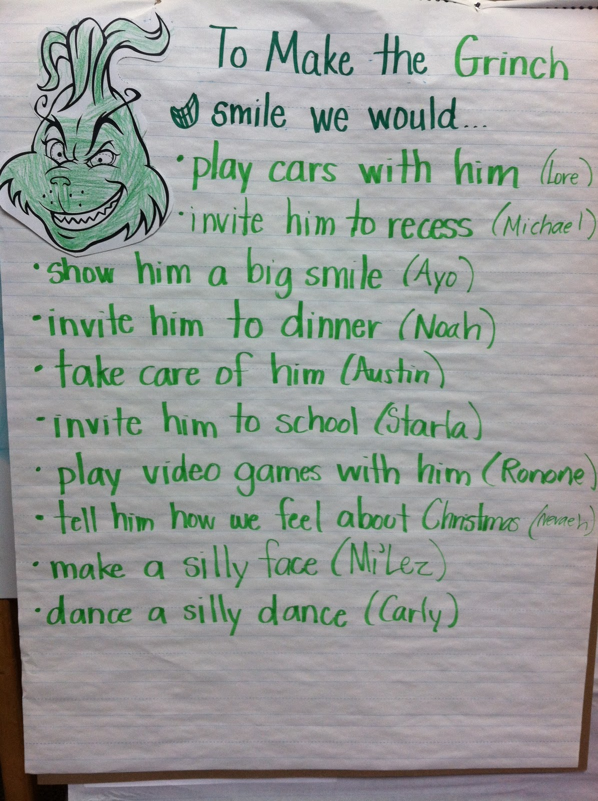 The Grinch Holiday Worksheet