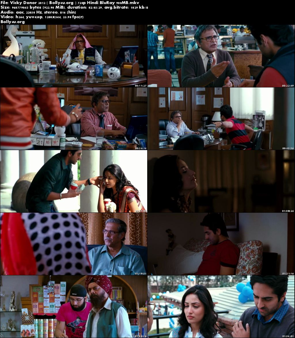 Vicky Donor 2012 BluRay 900MB Hindi Movie 720p Download