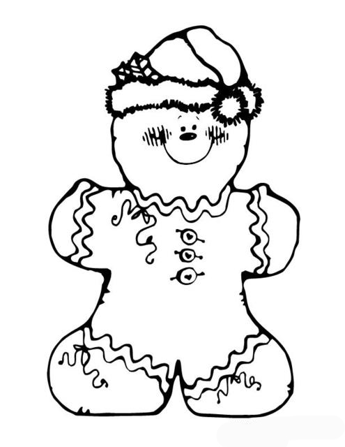 christmas coloring pages to print gingerbread | Gingerbread Christmas Coloring Pages To Printable ...