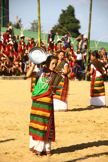 Kachari tribe women perform plate dance in tradition dress