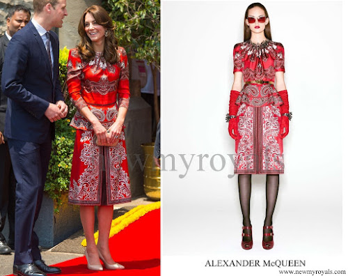 Kate Middleton wore Alexander McQueen dress Pre-Fall 2016 Collection