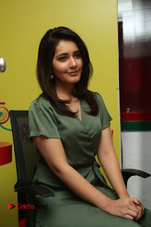 Actress Raashi Khanna Stills in Green Short Dress at Mirchi 95 Suno Aur Mercedes Jeeto Contest  0126.JPG