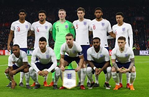 Đội hình chính thức tham dự World Cup của tuyển Anh