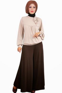 Contoh desain baju kerja muslim wanita modis