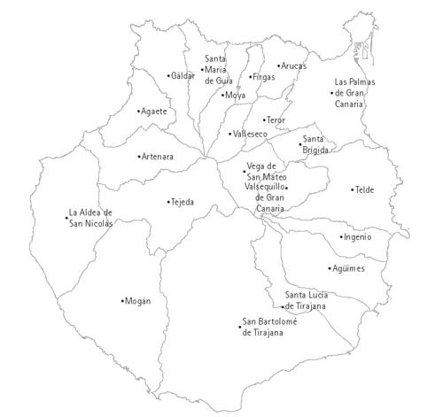 La Palma Mapa Municipios.Mapa Municipios Gran Canaria Mapa