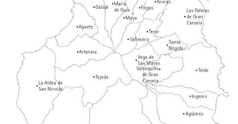 Mapa Municipios Gran Canaria.Geografiaehistoriadecanarias Mapa Politico Municipios Gran