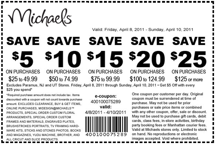 michaels mobile coupon july