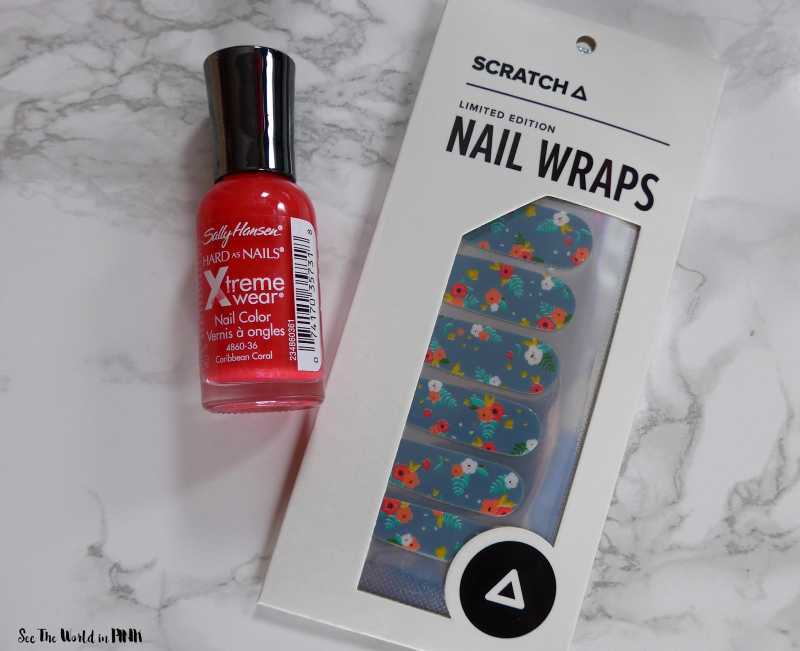 Manicure Monday - Coral Floral Nails