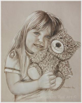 Custom sepia portrait of child