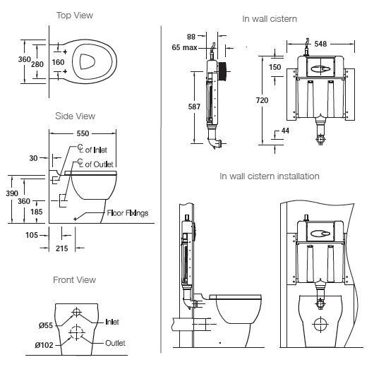Modecor Toilet Suites: Kohler Ove Wall Faced Inwall Toilet