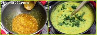 Bathue ki Kadhi Recipe step 2