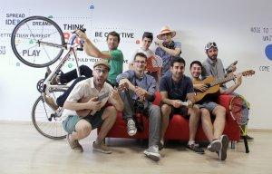 El equipo de Relendo en sus oficinas.