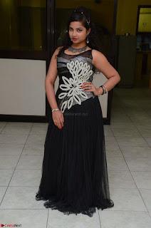 Shrisha Dasari in Sleeveless Short Black Dress At Follow Follow U Audio Launch 028.JPG
