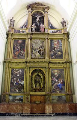 Retablo mayor de San Pedro Martín en la UCLM en Toledo