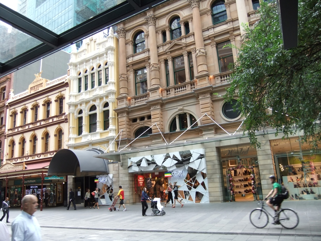 Christmas Decorations On City Awnings Sydney