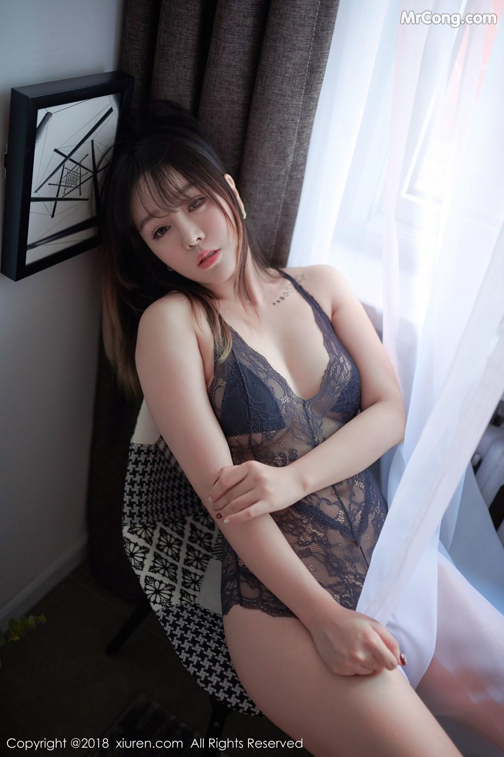 Image XIUREN-No.1252-Wang-Yu-Chun-MrCong.com-002 in post XIUREN No.1252: Người mẫu Wang Yu Chun (王雨纯) (49 ảnh)