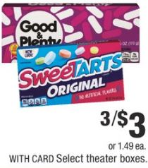 theater boxes  candy cvs deal